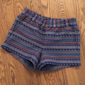 J. Crew | Blue, Orange & Teal Tribal Print Shorts